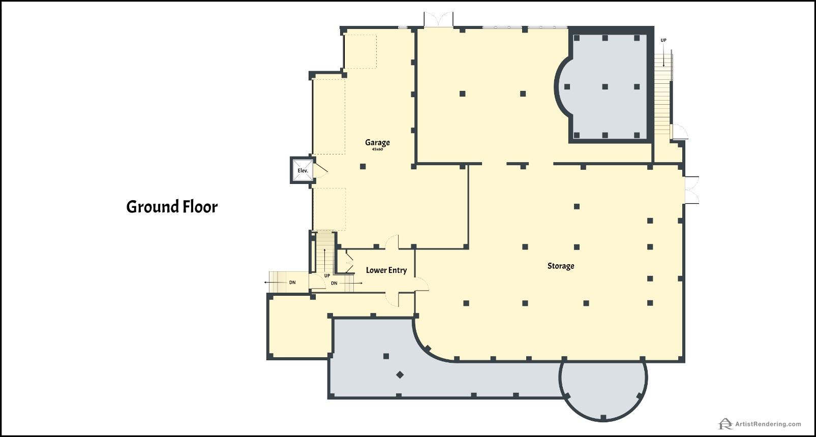 Casey Key - Color Floor Plans